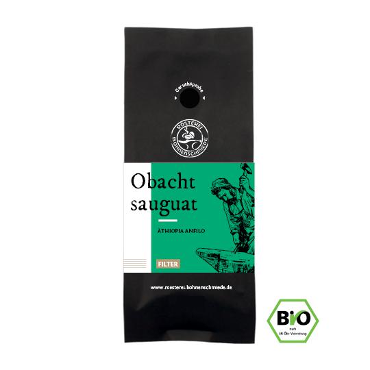 Obacht sauguat Bio Filterkaffee Bohnen