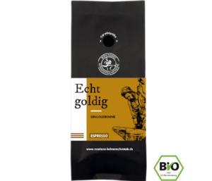 Echt goldig Direct Trade Bio Espresso Kaffee Bohnen