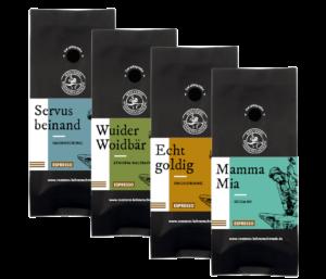 Espresso Probierpaket Rösterei Bohnenschmiede