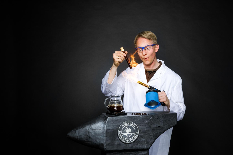 Stefan im Kaffee Labor